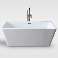 Free standing one piece bathtub