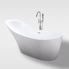 Free standing one piece acrylic bathtub