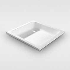 Square shape drop in acrylic shower tray