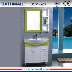 Green color PVC bathroom vanity cabinet