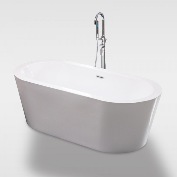 Free standing bathtub, one piece bathtub